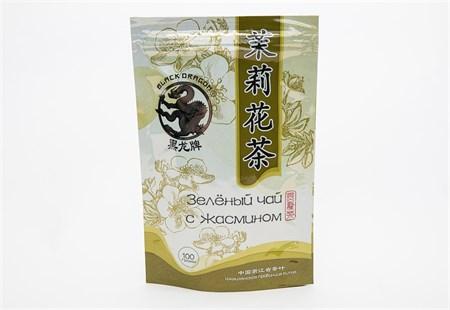 Чай ™  Черный дракон  Зелёный цветки жасмина 100г - фото 5270
