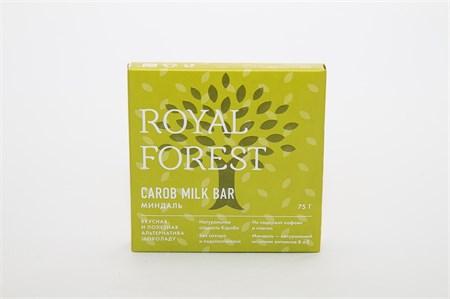 Шоколад из кэроба с миндалем Royal Forest Carob Milk Bar 75 г. - фото 5450