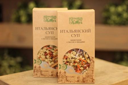 Суп ™  Гурмайор  Итальянский минестроне с пастой и овощами, 100 гр. - фото 6129