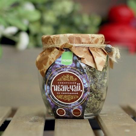 Иван-Чай ™  Сибирский Иван-Чай  листовой со смородиной, банка 100г - фото 6354