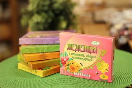 Леденцы ™  Родники Сибири  с клюквой, медом и календулой без сахара - фото 6453