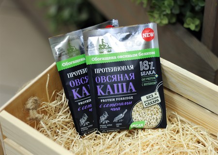 Каша ™  Bionova  протеиновая овсяная с семенами Чиа, 40 гр. - фото 6820
