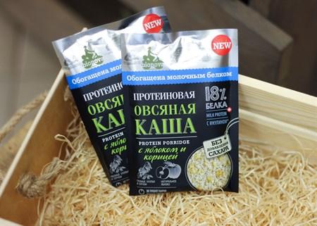 Каша ™  Bionova  протеиновая овсяная с яблоком и корицей, 40 гр. - фото 6823
