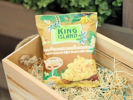 Кокосовые чипсы  ™  KING ISLAND  с карамелью ,40 гр. - фото 6969