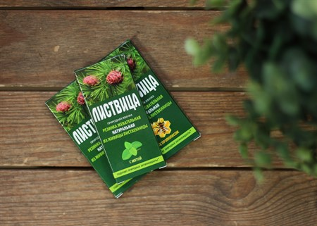 Смолка ™  Алтайский нектар  лиственничная  Листвица , с мятой, блистер 0,8 гр №4 - фото 7066