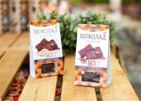 Шоколад ™  Живые Снеки  классический 100 гр - фото 7236