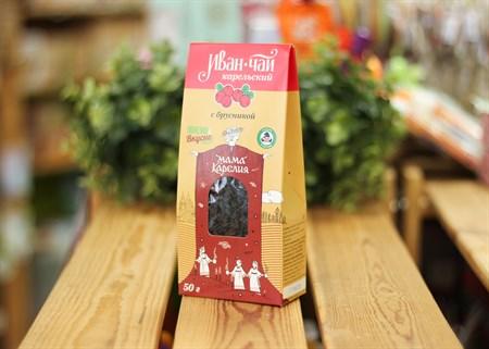 Иван-чай ™  Мама Карелия  с ягодами брусники 50 гр. КАРТОН - фото 7413