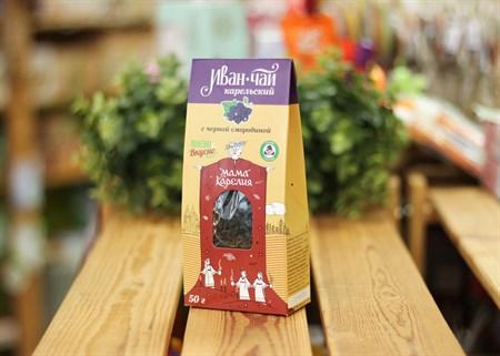 Иван-чай ™  Мама Карелия  с ягодами черной смородины 50 гр. КАРТОН - фото 7415