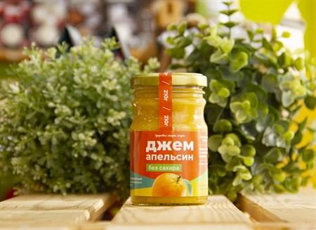Джем без сахара ™  Солнечная Сибирь  Апельсин 210 гр - фото 7519