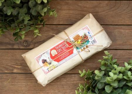Пастила ™  Старые Традиции  яблочная С КЛУБНИКОЙ без сахара 300 гр. - фото 7573