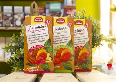 Пастила Яблочная™  Кондитеская фабрика Ильичёва  малина с имбирём 90 гр - фото 7680