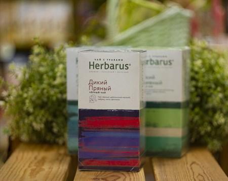 Чай чёрный с травами ™  Herbarus  Дикий пряный в фильтр пакетах 24 шт *2г - фото 7916
