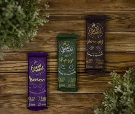 Батончики ™  Green Meal  Шоколад 50 гр. - фото 8027