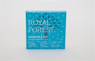 Шоколад из кэроба с изюмом и ягодами годжи Royal Forest Carob Milk Bar 75 г.