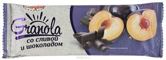 Батончик-мюсли ™  EVERYDAY  злаковые GRANOLA со сливой и шоколадом 50 гр.