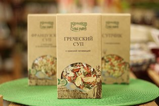 Суп ™  Гурмайор  Греческий с красной чечевицей,100 гр.