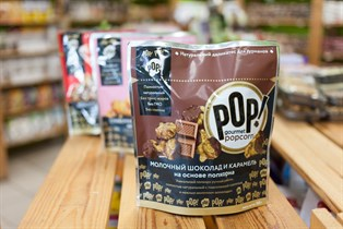 Попкорн ™  POP!  Молочный шоколад и карамель 100 гр.