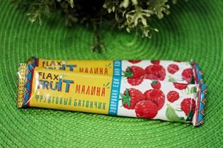 Батончик  FLAX FRUIT  ™  Компас Здоровья  с малиной 30 гр.