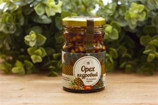 Кедровый орех ™  Солнечная Сибирь  в сиропе из сосновой шишки, 220 гр.