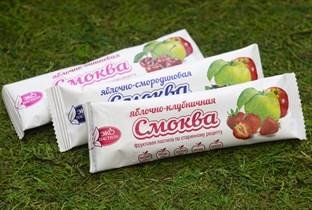 Смоква ™  Эко Пастила  фруктовая пастила Яблочная с клубникой, 30 гр.