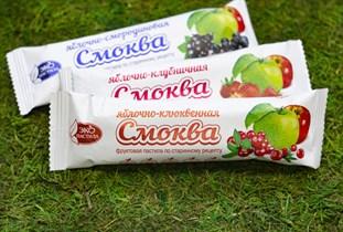 Смоква ™  Эко Пастила  фруктовая пастила Яблочная с клюквой, 30 гр.