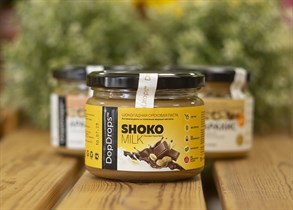 Паста шоколадная ореховая ™  Dop Drops  SHOKO MILK Сhocolete Peanut Butter 250 гр.