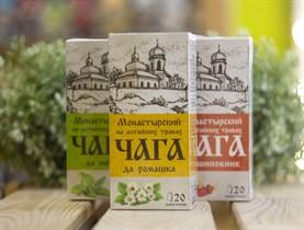 Травяной сбор ™ Chagoff    Монастырский  на алтайских травах  Чага да ромашка  30 гр.