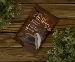 Печенье протеиновое ™  Ё батон   20 % белка со вкусом ШОКОЛАДА с белковым суфле в глазури 50 гр