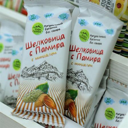 Батончик шелковица™  Дары Памира  с миндалем 20 гр. - фото 6114