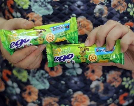 Батончик злаковый ™  EGO KIDS   Карамельная глазурь  25 гр. - фото 6117