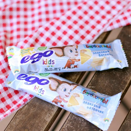 Батончик злаковый ™  EGO KIDS   Сливочный пломбир  25 гр. - фото 6119