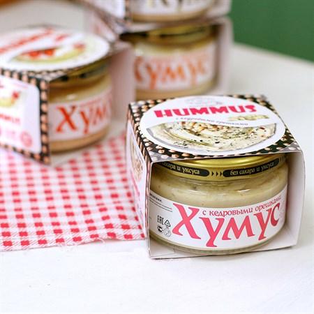 Закуска ™  Тайны Востока-хумус  с кедровыми орешками 200 гр - фото 6155