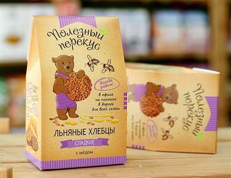 Хлебцы Льняные ™  Полезный перекус  с медом, 100 гр. - фото 6220