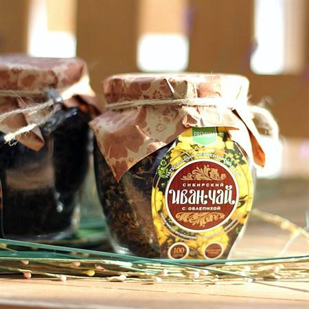 Сибирский Иван-Чай листовой с облепихой, банка 100г - фото 6357