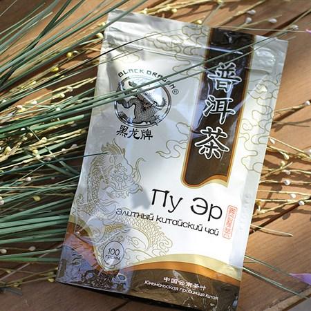 Чай ™  Черный дракон  Пуэр 100г - фото 6420