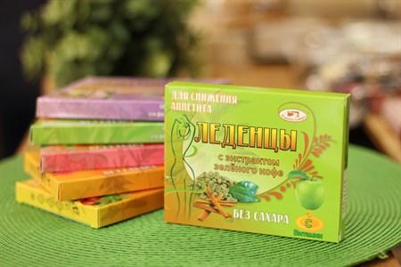 Леденцы ™  Родники Сибири  с экстрактом зеленого кофе и корицы без сахара - фото 6452