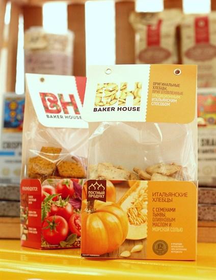Хлебцы Итальянские ™  Baker House  Тыква 250гр. - фото 6495