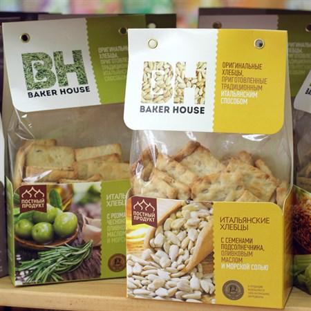 Хлебцы Итальянские ™  Baker House  Подсолнечник 250гр. - фото 6497