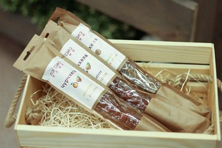 Чурчхела ™  Полезнотека  абрикосовая с фундуком 80 гр. - фото 6551