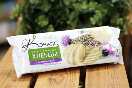 Хлебцы хрустящие ™  Кэнапс  с расторопшей 70 гр. - фото 6593