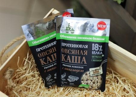 Каша ™  Bionova  протеиновая овсяная с шоколадом, 40 гр. - фото 6819