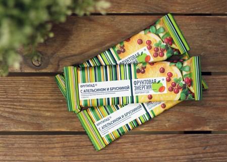 Фруктовый батончик ™  Фрутилад  неглазированный с апельсином и брусникой 30 г - фото 6855
