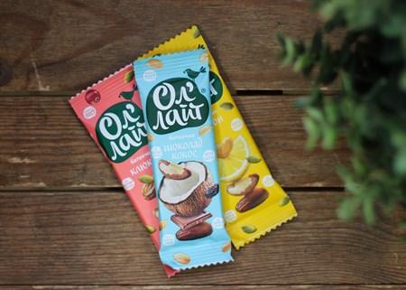 Батончики ™  Ол Лайт  фруктово-ореховый шоколадный с кокосом, 30 гр. - фото 6898
