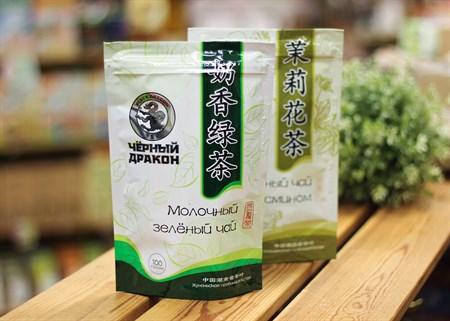 Чай ™  Черный дракон  Молочный зелёный 100г - фото 6929