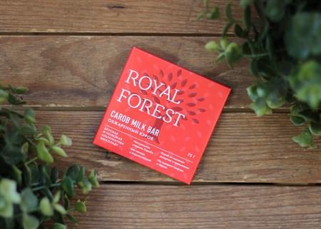 Шоколад ™  Роял Форест  из обжаренного кэроба Carob Milk Bar 75 г. - фото 7036