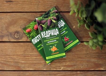 Смолка ™  Алтайский нектар  кедровая  Кедрица  с облепихой, блистер 0,8 гр. №4 - фото 7063