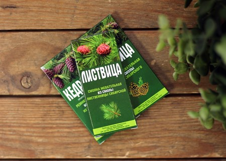 Смолка ™  Алтайский нектар  лиственничная  Листвица , блистер 0,8 гр №4 - фото 7065