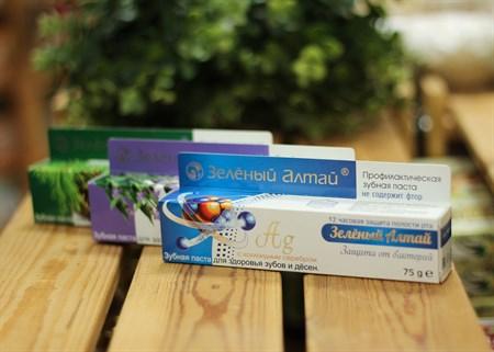 Зубная паста ™  Зеленый Алтай   с коллоидным серебром, 75 гр - фото 7092