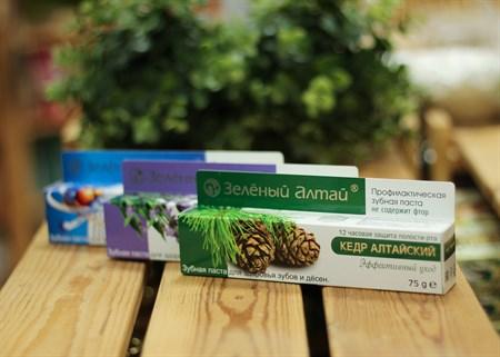 Зубная паста ™  Зеленый Алтай   Кедр Алтайский , 75 гр - фото 7093