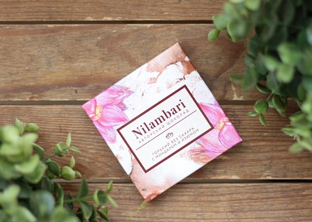 Шоколад ™  Nilambari  горький на сухофруктах с миндалем и изюмом,65 гр. - фото 7152